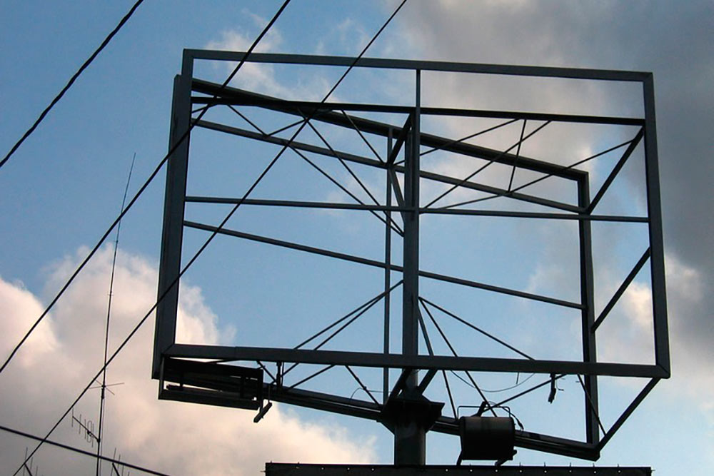 Изготовление рекламных щитов в Севастополе. Стальмонтаж