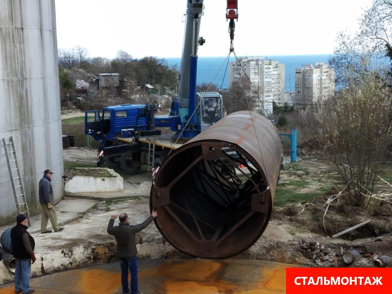 Монтаж резервуара крановые работы